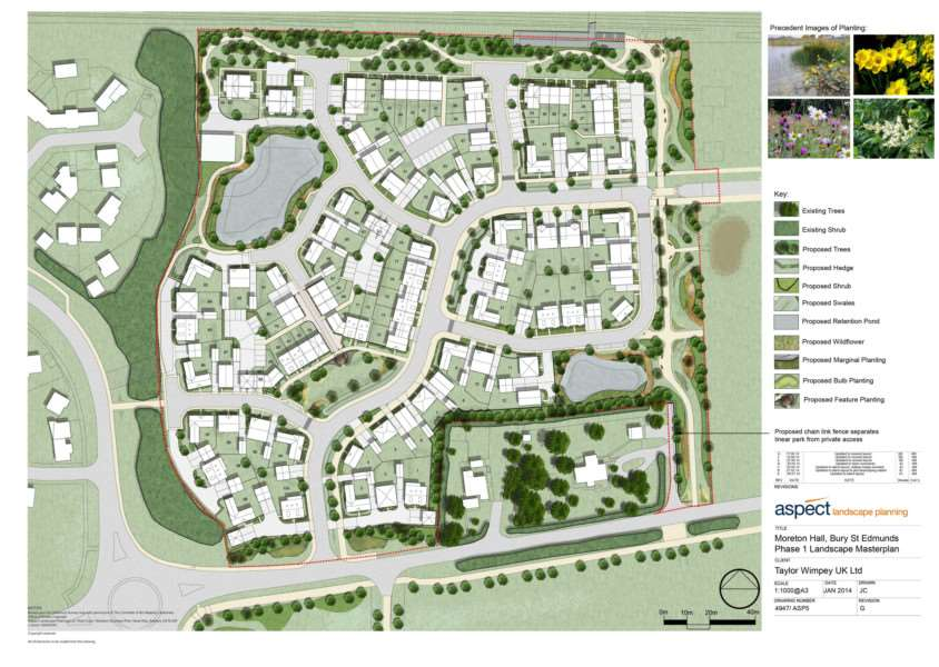 Taylor Wimpey's proposed build phase 1 for Moreton Hall