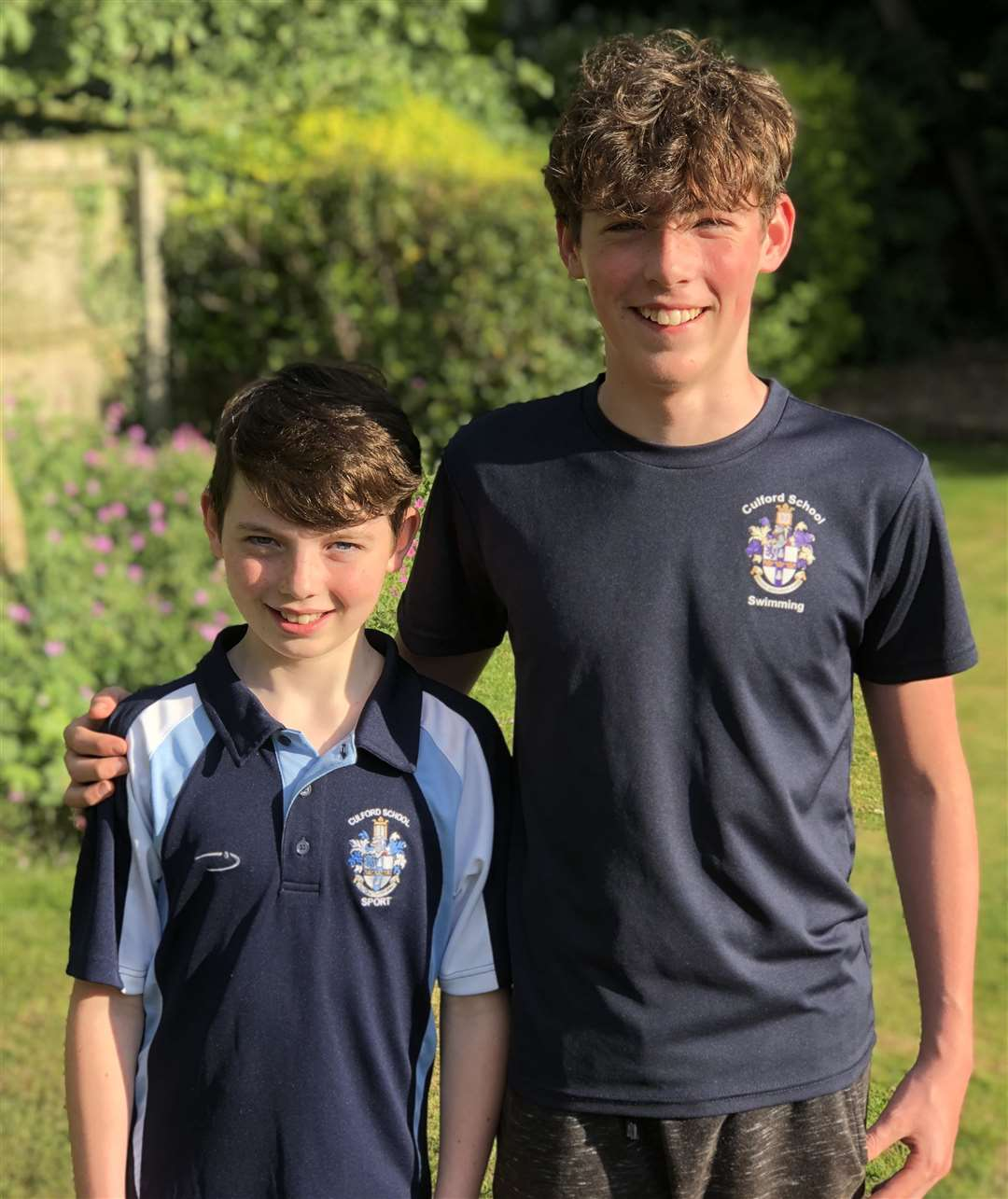 Culford School's Samuel (left) and Archie Chamberlain who have been classified inside the top 20 Independent Association of Prep Schools (IAPS) swimmers in the country as a result of the coronavirus pandemic prevenint the finals from taking place in June (38457042)