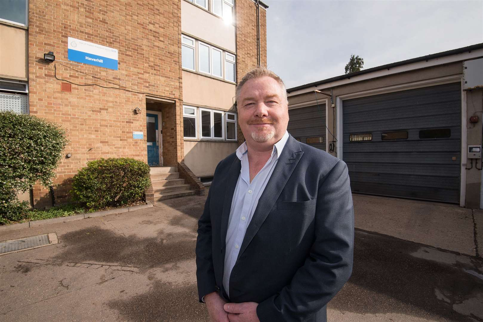 Paul Marshall, the East of England Ambulance Trust's head of service delivery for Cambridgeshire and Peterborough outside Haverhill ambulance station. Picture by Mark Westley.