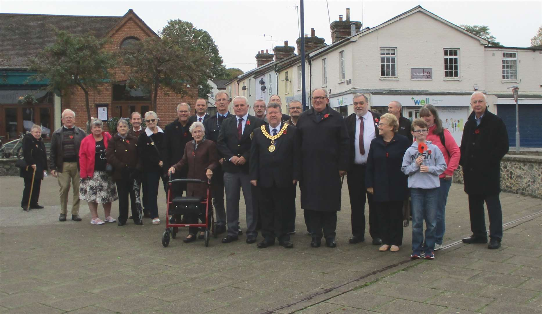 Haverhill RBL members, councillors and other members of the public attended the launch of the 2019 Poppy Appeal. Picture by Geoff Walker