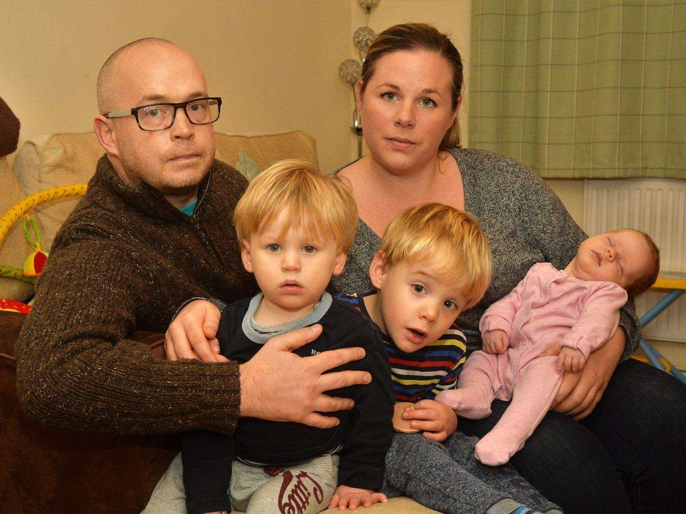 The Newmarket family who had their home broken into by thieves.
