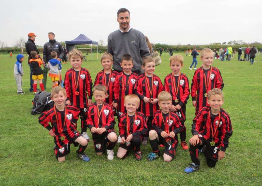 ALL SMILES: The Cornard Dynamos Under-10s who recently competed in a nine-a-side tournament at the club