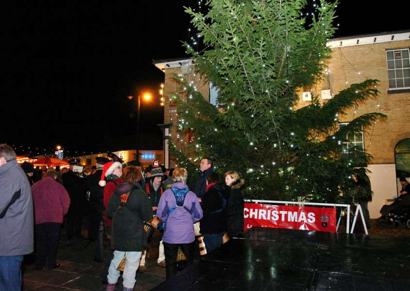 Christmas Lights switch on in Sudbury .''Pictured;