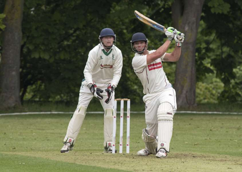 BIG HITTER: Dustin Melton (batting) scored his first half-century for Sudbury and later took two wickets as Sudbury put Burwell to the sword at Mingay Park.