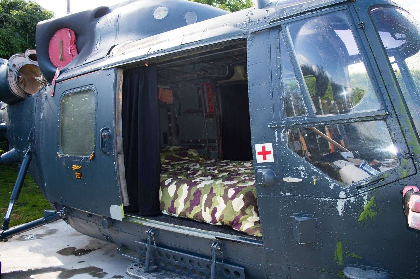 Visitors can spend a night in an ex-army corps helicopter(42368215)