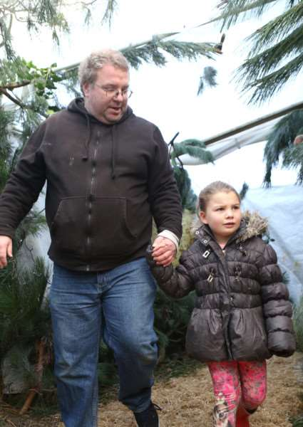 Mark Coleman and Jai Coleman, 6,enjoy the Christmas with Owls in the Land of Narnia event at Stonham Barns. ANL-151128-191304009