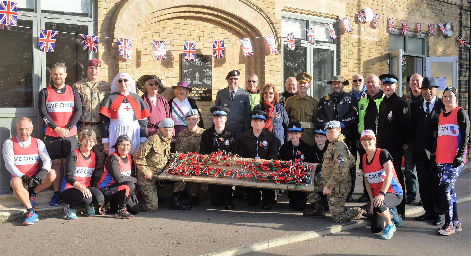 Soham's Royal British Legion launched its Poppy Appeal with a special event