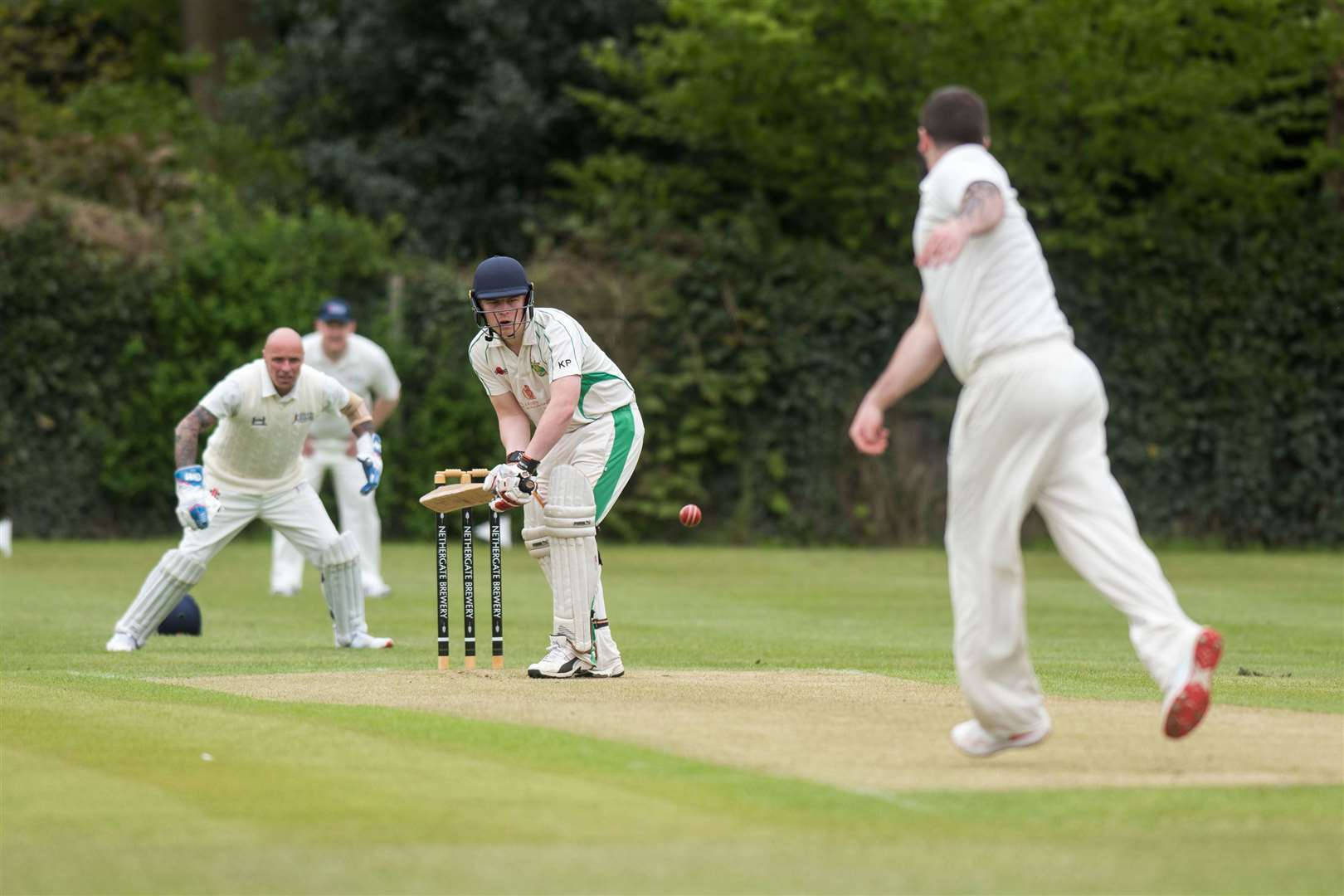 Long Melford Cricket Club is hosting the Help for Heroes cricket teams, which are comprised of former military personnel, for two exhibition games, in order to raise money for the charity. Kieran Pettitt LM Picture by Mark Westley. (9755253)