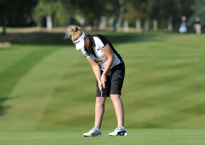 STAYING PUTT: Hannah Moul .