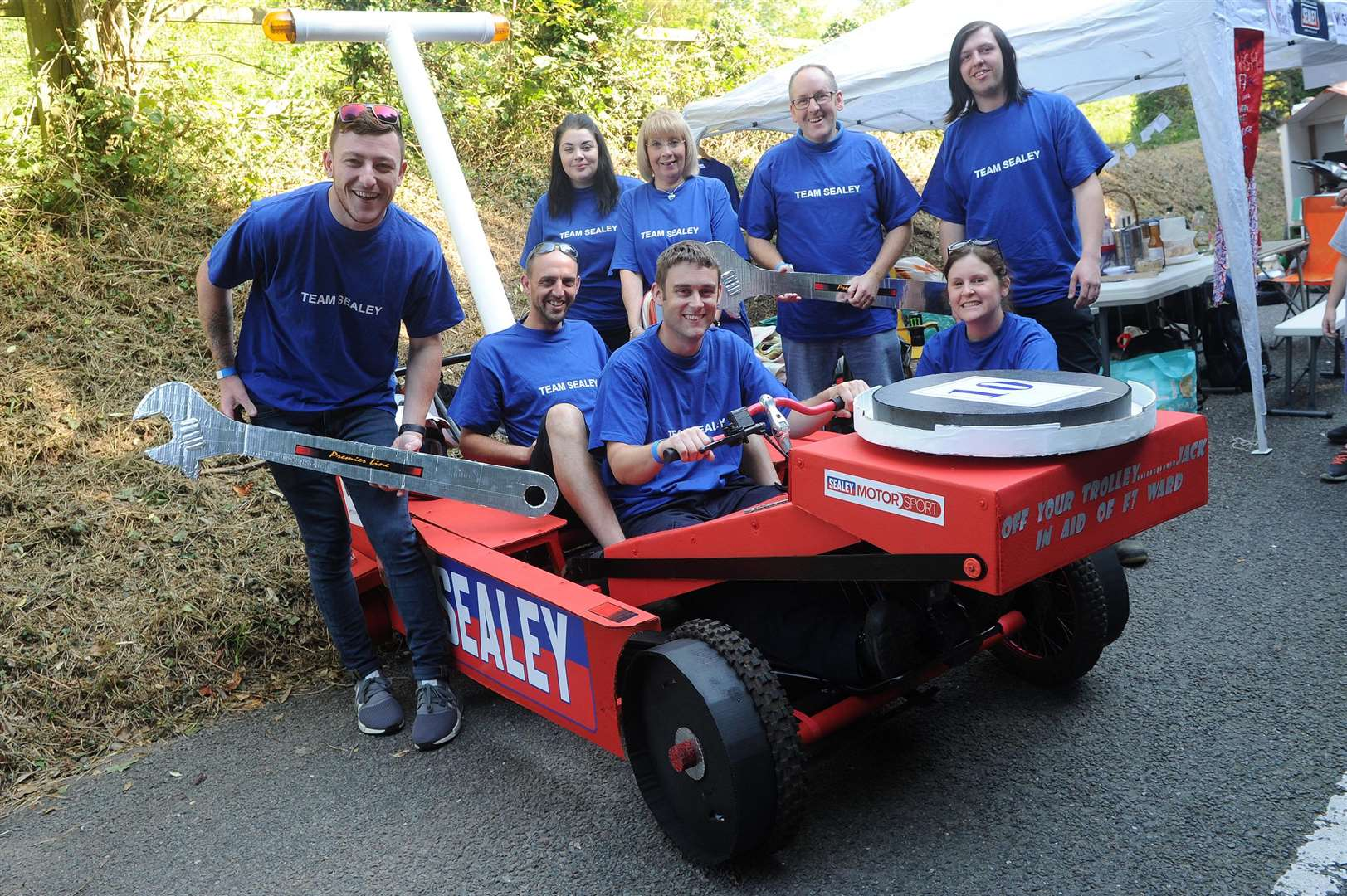 The first ever Soap Box Challenge in aid of the My WiSH Charity's Every Heart Matters appeal...Pictured: Team Sealey...PICTURE: Mecha Morton... .. (3920336)