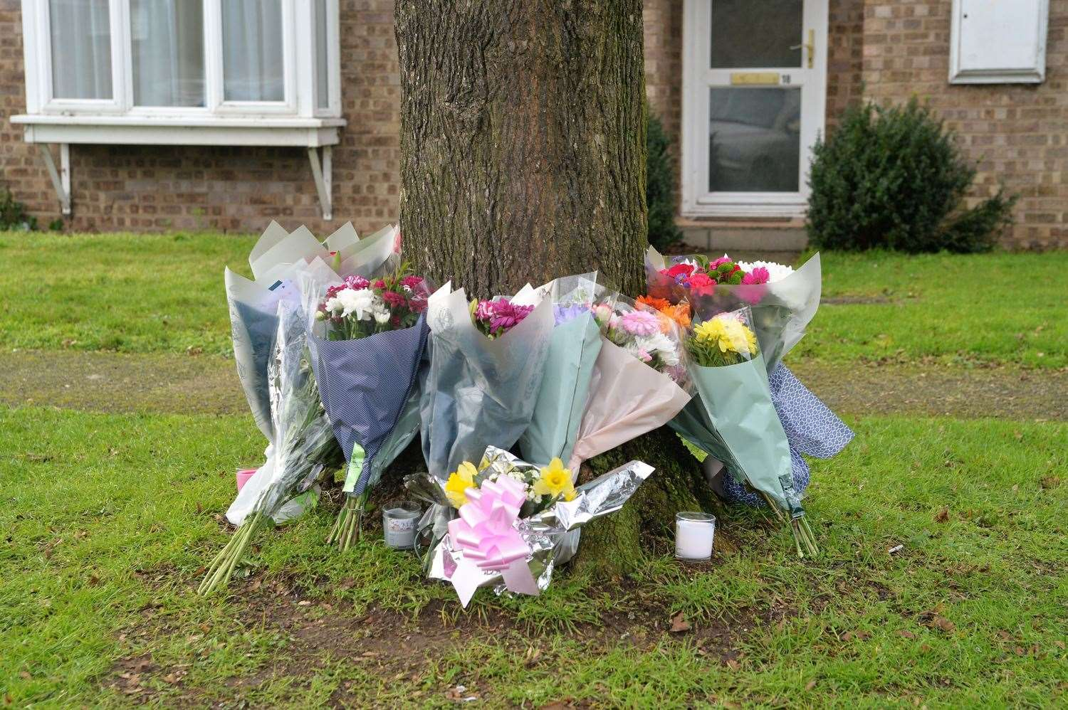 Floral tributes for Clare Nash
