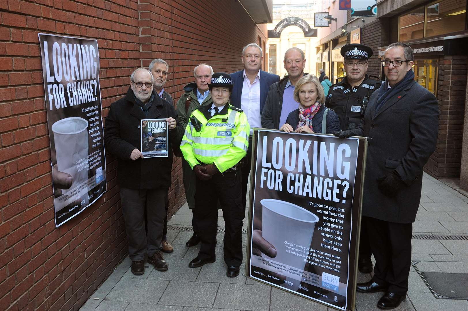 The Looking for Change campaign has so far raised more than £2,000. Picture: Mecha Morton.