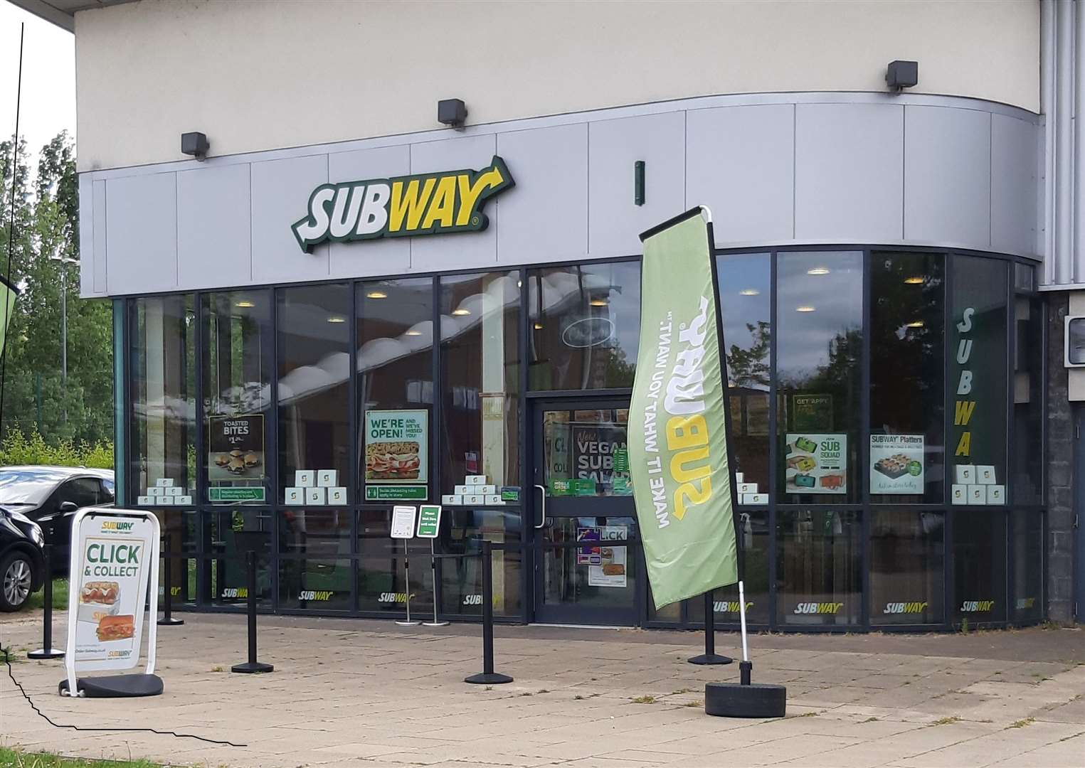 The Subway next to Haverhill Leisure Centre in Ehringshausen Way is open for click and collect