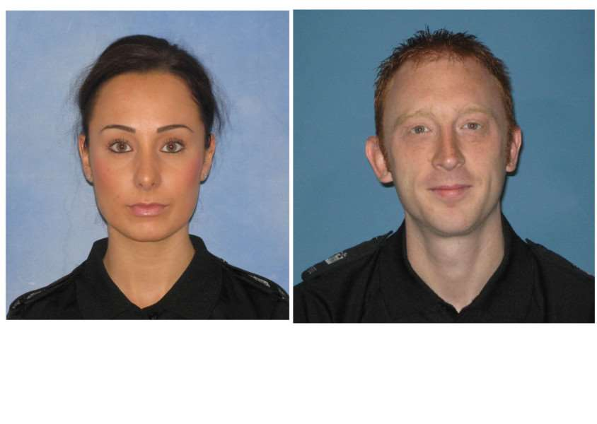 Pc Emma Stacey and Pc Rob Farrow
