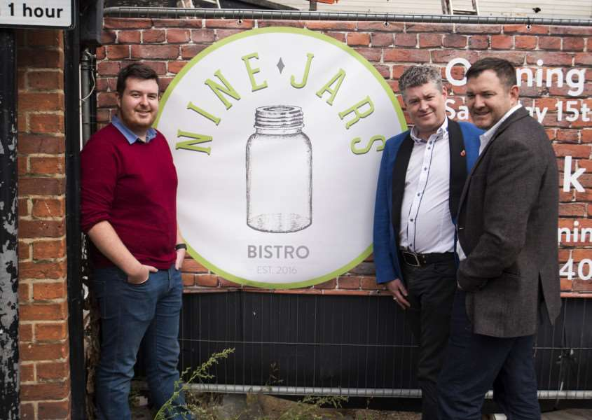 James, Daniel and Robin Pilley, owners of the Nine Jars Bistro in Haverhill