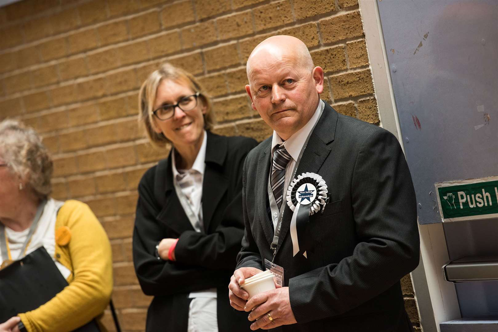 Ruth Allen and Cllr Michael Anderson