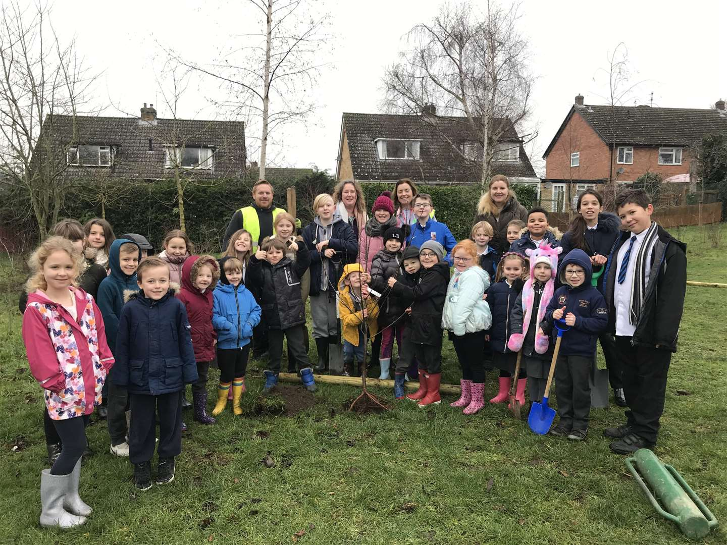 Greener Growth with Westgate Primary School pupils and staff.