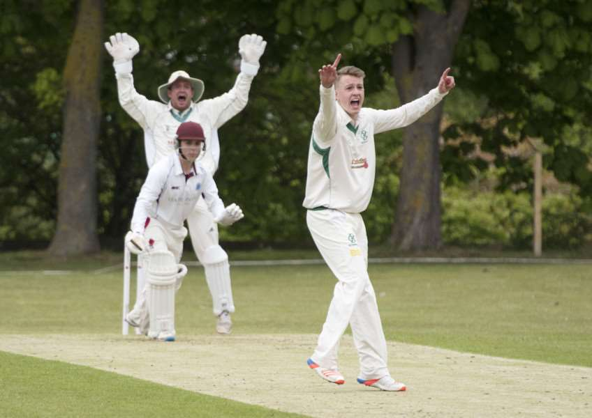 NOT OUT: Ben Seabrook's appeals for a wicket are turned down
