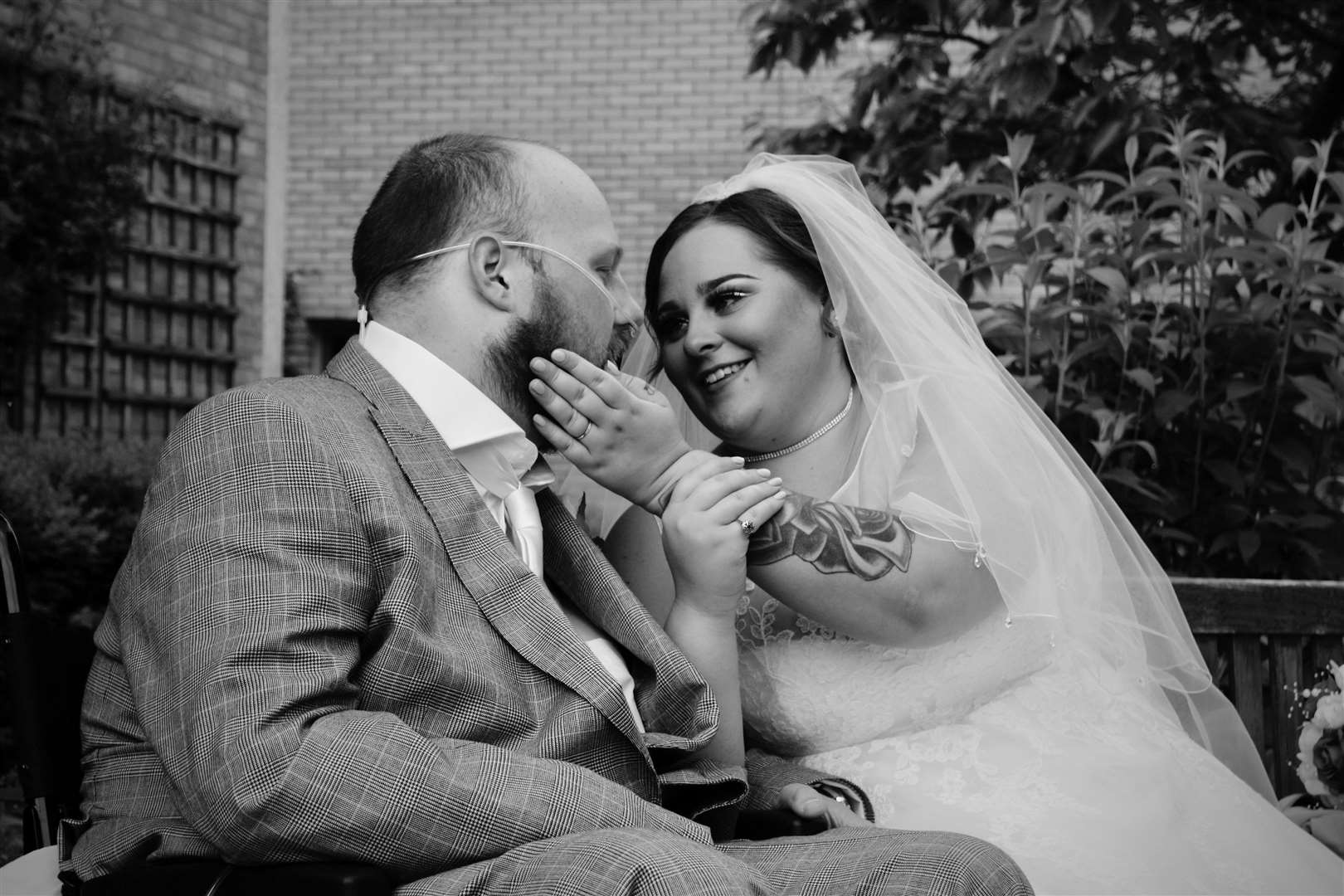 Jack and Keyleigh Tate who married at Addenbrooke's Hospital on Friday