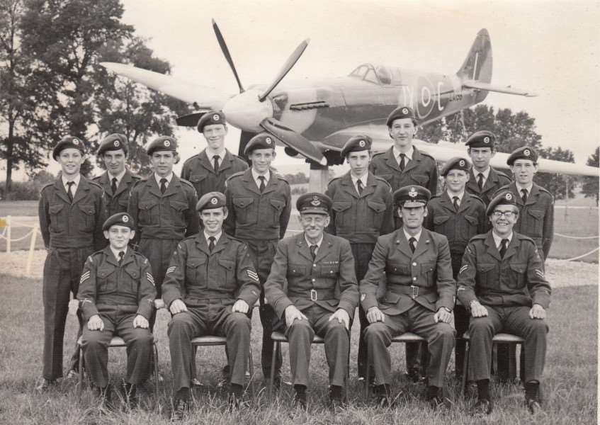 1451 Sqn ATC at RAF Locking in 1975 with Phil French pictured second from the right in the front row and John Wombwell second from the left in the back row ANL-161219-174338001