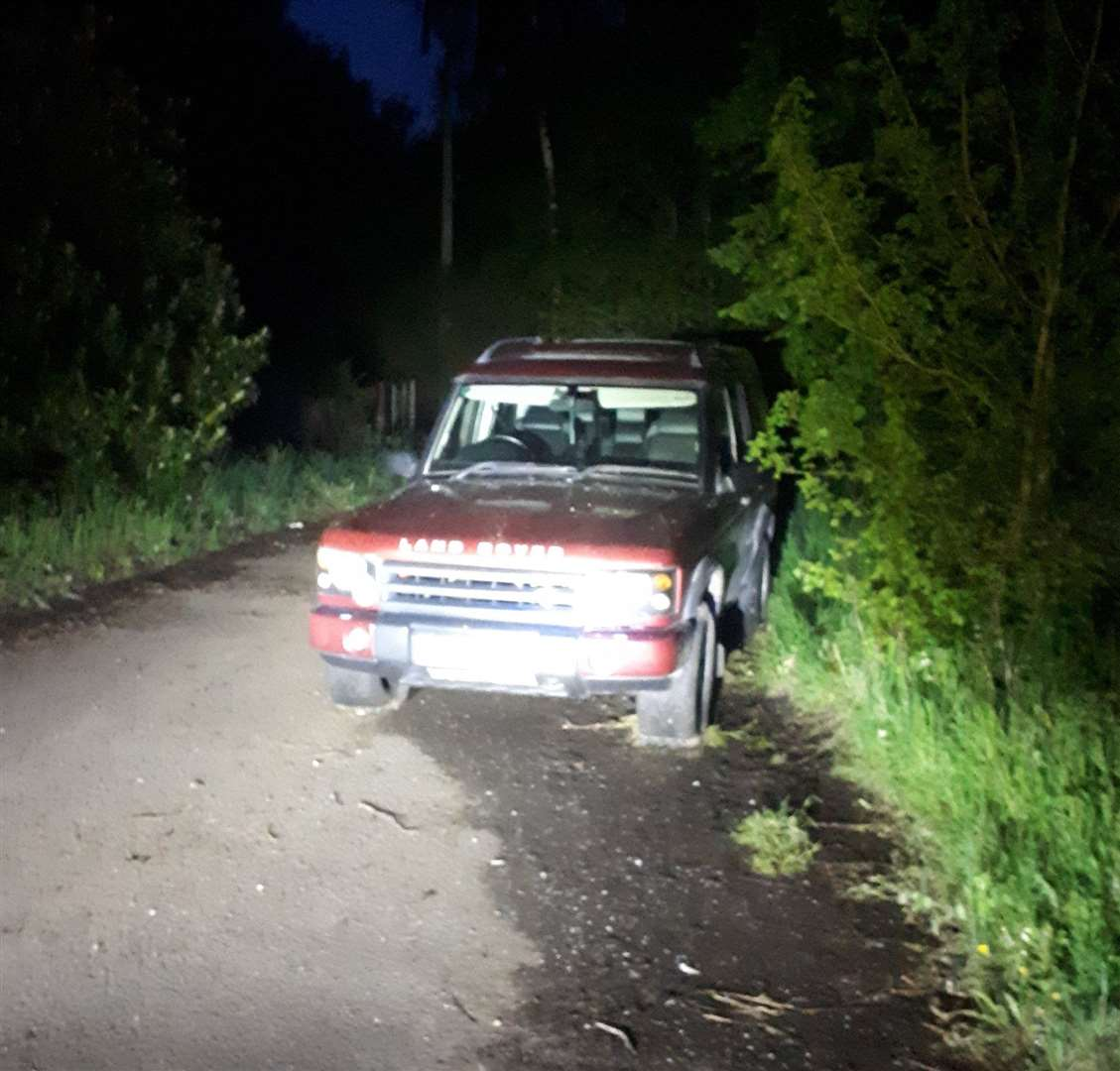 A Land Rover was seized by police in Red Lodge on Saturday night. Picture: Suffolk Police (34296768)