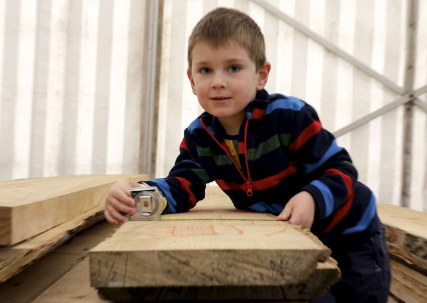 Wood Fair weekend at Ickworth House. Pictured is William Dunlop, 4. ''Picture: MARK BULLIMORE ANL-160810-223309009
