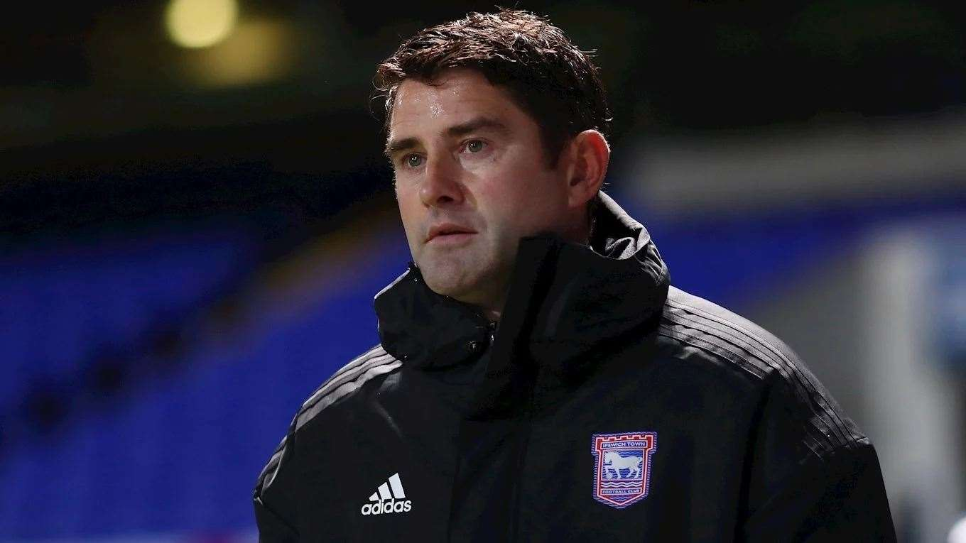 Asistant manager Stuart Taylor was in charge in the dugout with Paul Lambert serving a touchline ban and isolating while awaiting a coronavirus test resultPicture: ITFC (42889743)