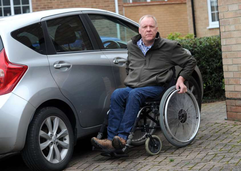 Russ Fox is having to pay for WAV (wheelchair accessible vehicle) taxis to come from Cambridge or Newmarket for a night out because no taxi firms in Haverhill provide them, which of course he is not happy about. He's had to pay �36 for a 2 miles taxi journey from his house to the other side of Haverhill as a result.''''PICTURE: Mecha Morton