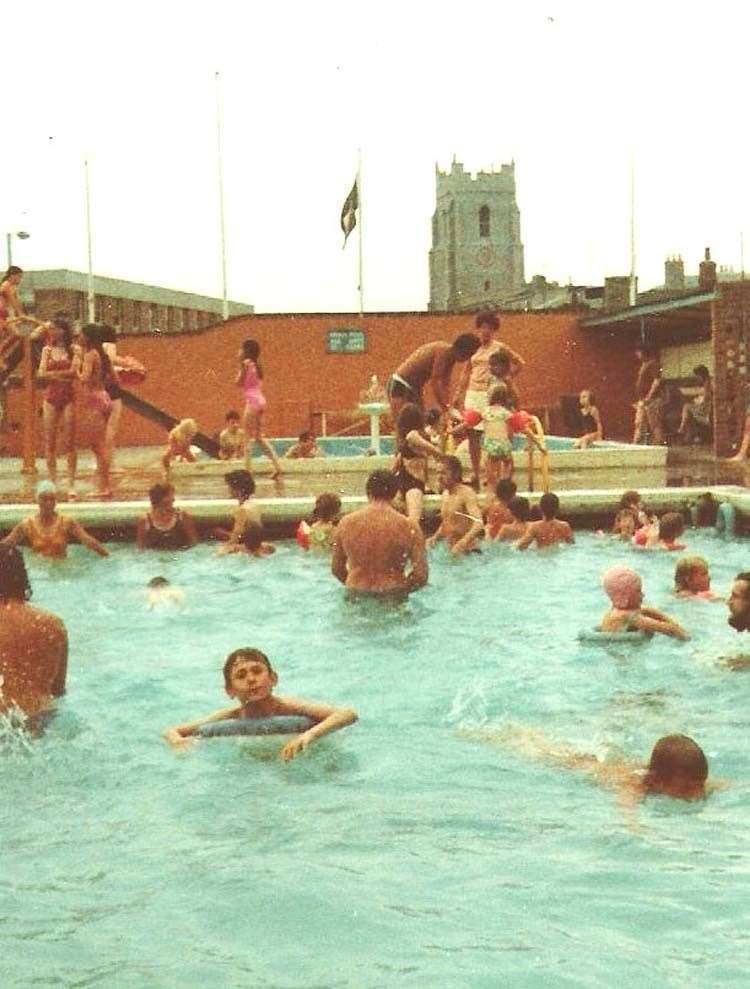 Sudbury's open air swimming pool in the 1970s. Picture: Sudbury Photo Archive