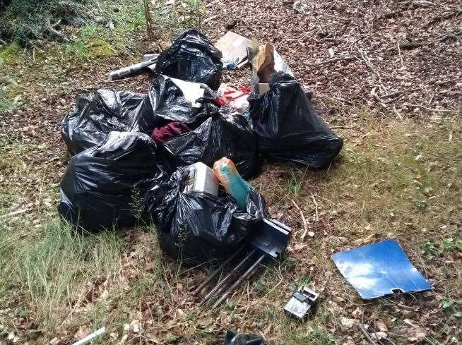 The waste found in Kilverstone Road (15782643)
