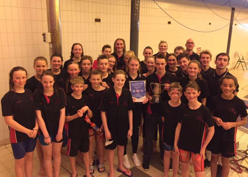 TOP TEAM: Newmarket Swimming Club celebrate their victory