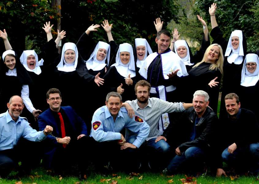 The cast of Sister Act, which is at the Theatre Royal next week Picture by Andy Abbott