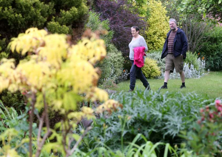 Visitors enjoy the Cavendish Open Gardens day ANL-150614-180545009