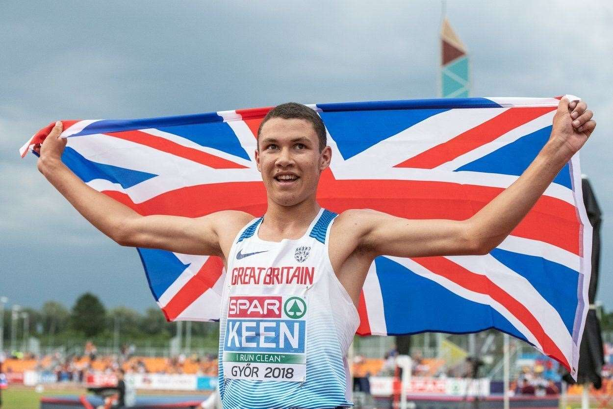 Thomas Keen wins European Under-18 Championships gold. Picture: European Athletics. (13604281)