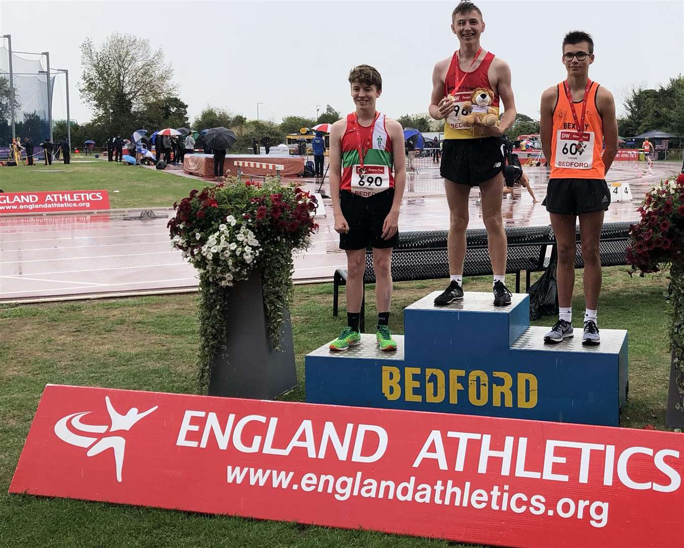 Top podium spot for George Wilkinson after winning the England Athletics Under-17 Championships, at 15-years-old (3948948)