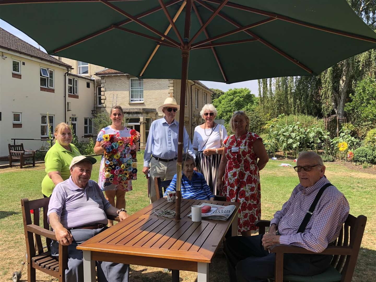 Residents at Melford Court Care Home in Long Melford take part in the 2018 Stow in Bloom gardening competition. (3316938)