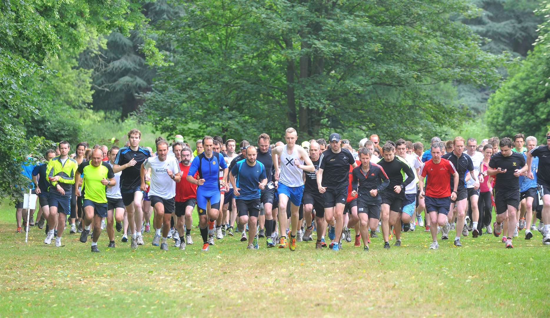 The start of the Parkrun event at Nowton Park, Bury.. (16205884)