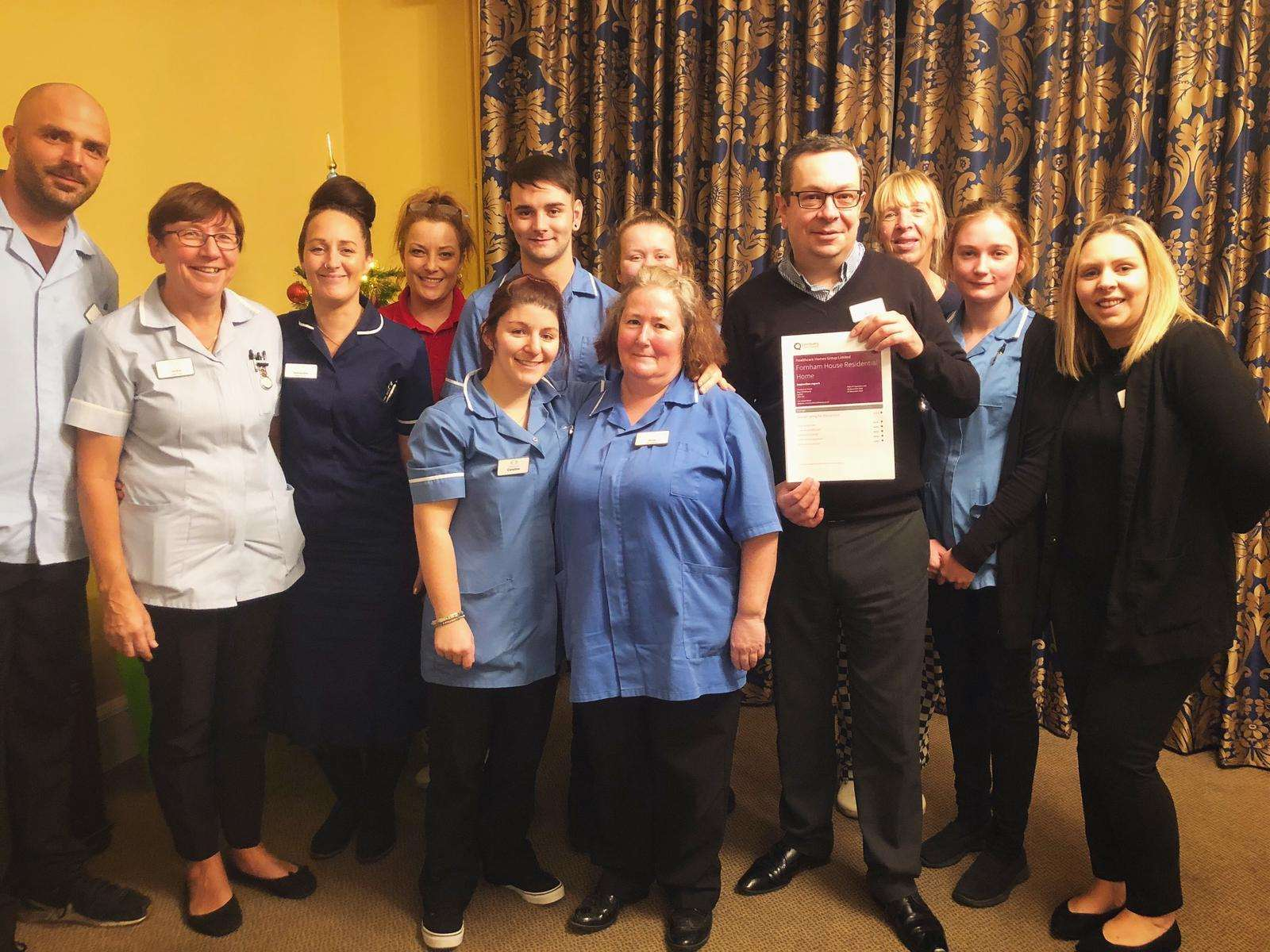 Fornham House celebrates CQC report (6133824)