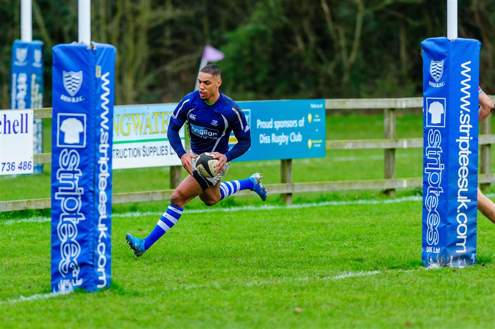 11/01/2020. Roydon, UK. ..Rugby action from Diss v Epping Upper Clapton. Shaun Blyth..Photo by Mark Bullimore. (34347805)