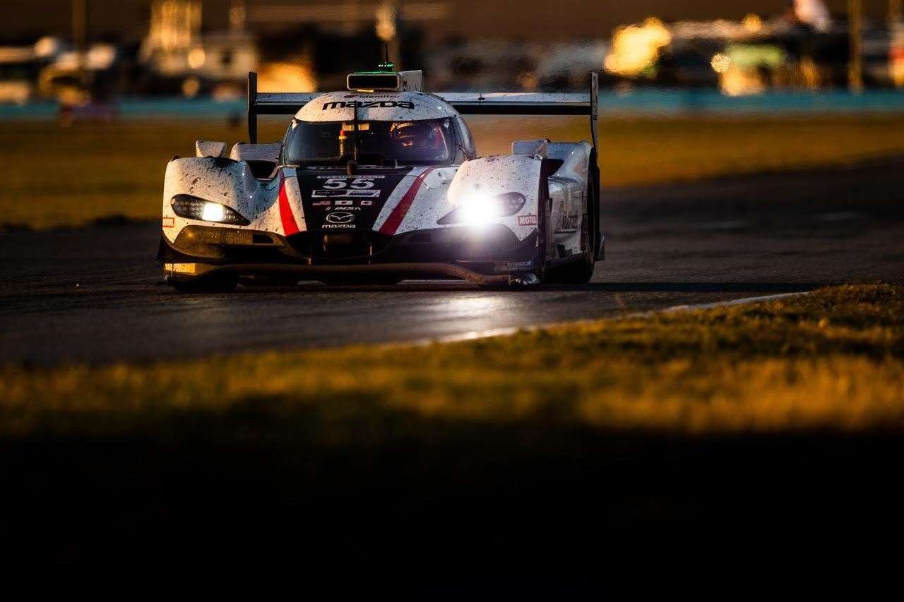 Oliver Jarvis racing for Mazda Motorsports at the Rolex 24 at Daytona. Picture: Mazda Motorsports