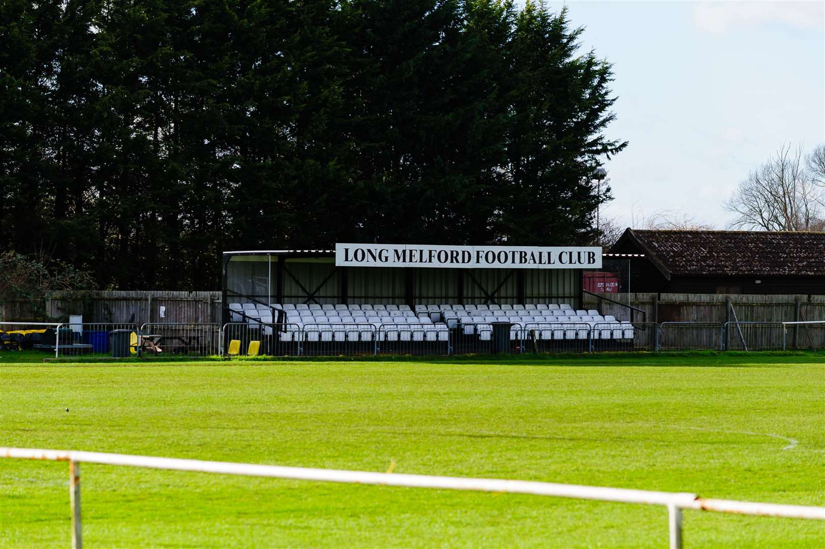 11/02/2020, Long Melford, UK. ..Long Melford Football Club grounds and club house...Photo by Mark Bullimore. (28959350)