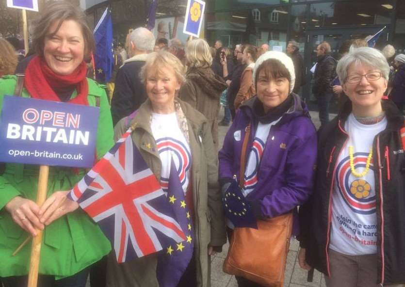 Campaigners against a hard Brexit joined a march in Ipswich on Saturday.'Members of the Open Britain Bury St Edmunds group and Helen Geake joined the Great Eastern March to express their concerns.