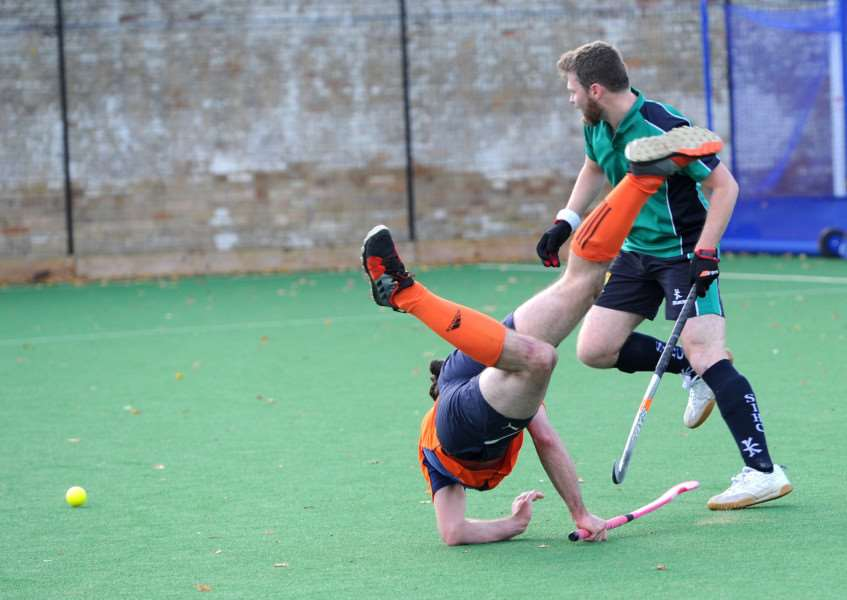 TAKING A TUMBLE: Bury Men's I lost out at home to St Ives
