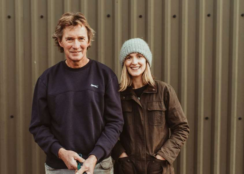 Anton Martin, Arable Farmer at Lodge Farm and Ella Martin, Founder of Lodge Farm Honey