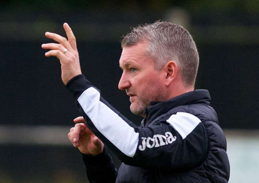 HOME DEFEAT: Halstead boss Mark McLean looks on as his side are beaten