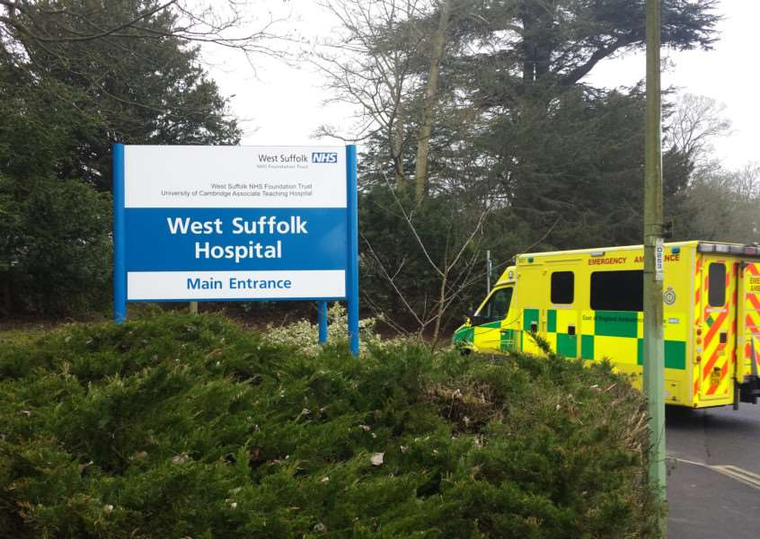 West Suffolk Hospital in Bury St Edmunds