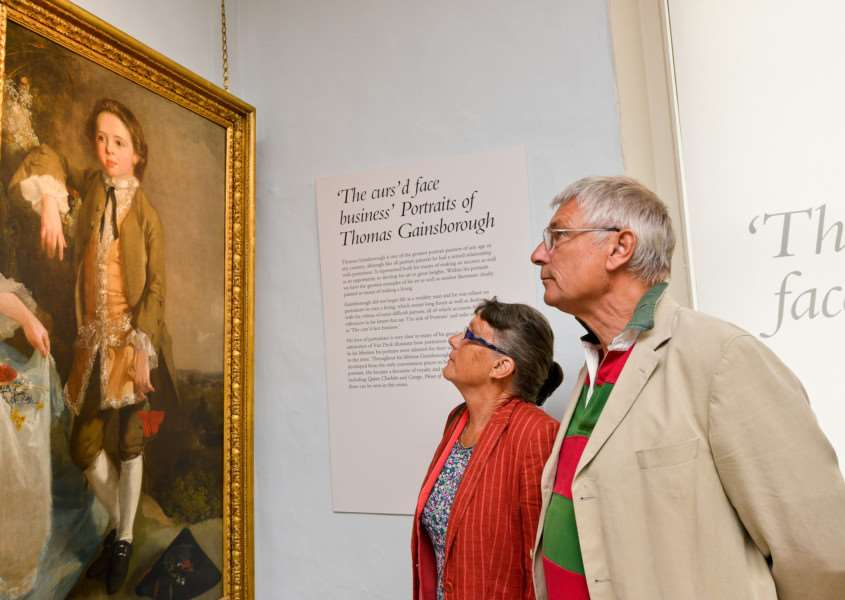 Heritage day at Gainsborough House in Sudbury. Susan Bevis and Peter Jones admiring the Portait of a Boy by Thomas Gainsborough from 1774. ANL-161009-202807009