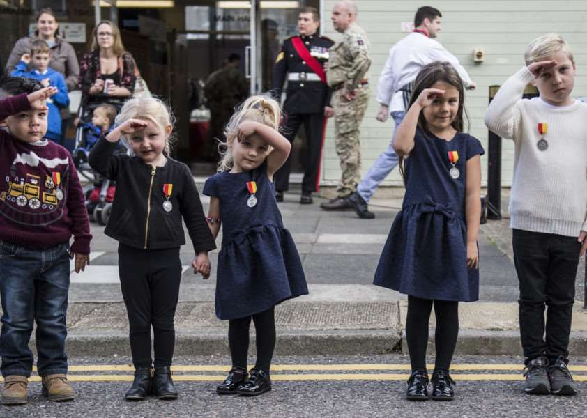 The Vikings awarded their children their own medal as a token of appreciation for the exceptional time separated from a parent due to army service.''''Photographer: Sergeant Rupert Frere RLC