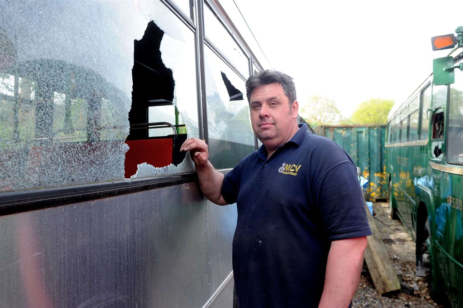 A number of vehicles have been vandalised on the site of MCV Engineering. The incident has left the business with a hefty bill..Pictured: Owner Anthony Brown...PICTURE: Mecha Morton.... (9243738)