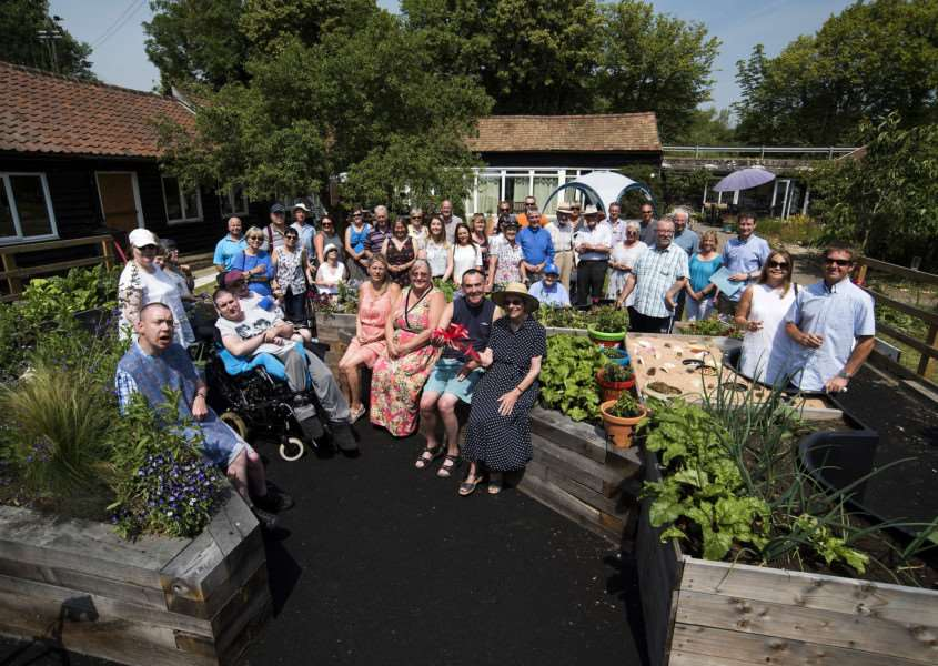 FERRIERS BARN NEW GARDEN''Opening of their accessible garden - day care centre for disabled adults.'Picture Mark Westley